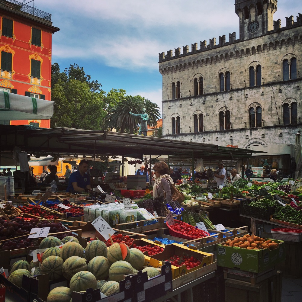 Fruit and veg at the Friday Market in Chiavari