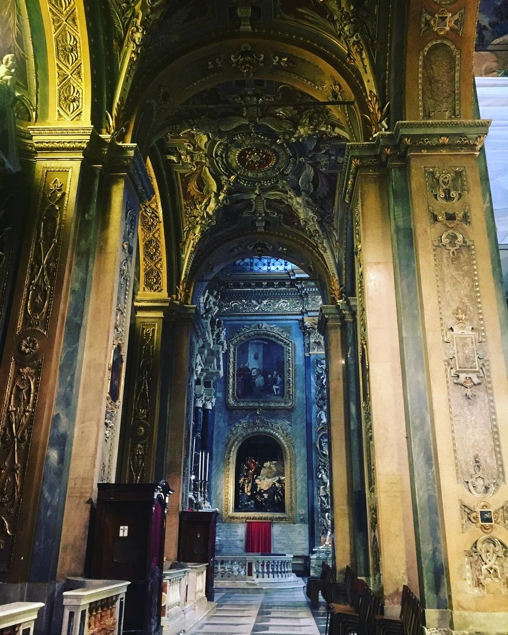 Inside Nostra Signora dell'Orto