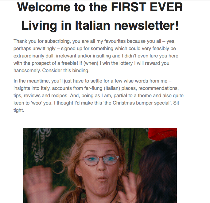 Living in Italian newsletter