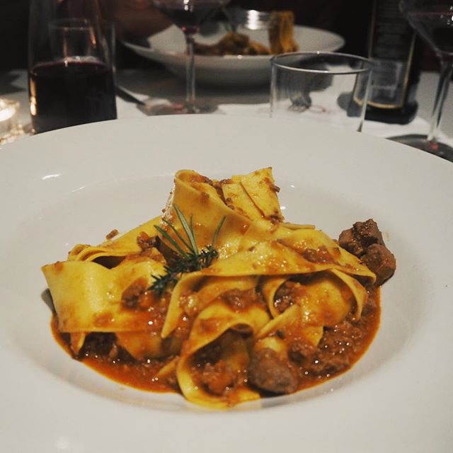 Sorry I know food pics can be dull if you don't get to taste it yourself but this pappardelle al  cinghiale really deserves a shout out. Wide ribbons of fresh pasta laden with a hearty wild boar ragù.  I asked a local what I should sample in Tuscany and they suggested spit roast wild boar... it's the closest I could get.