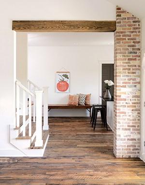 Reclaimed Hit & Miss Oak flooring with Pine Beams.jpg