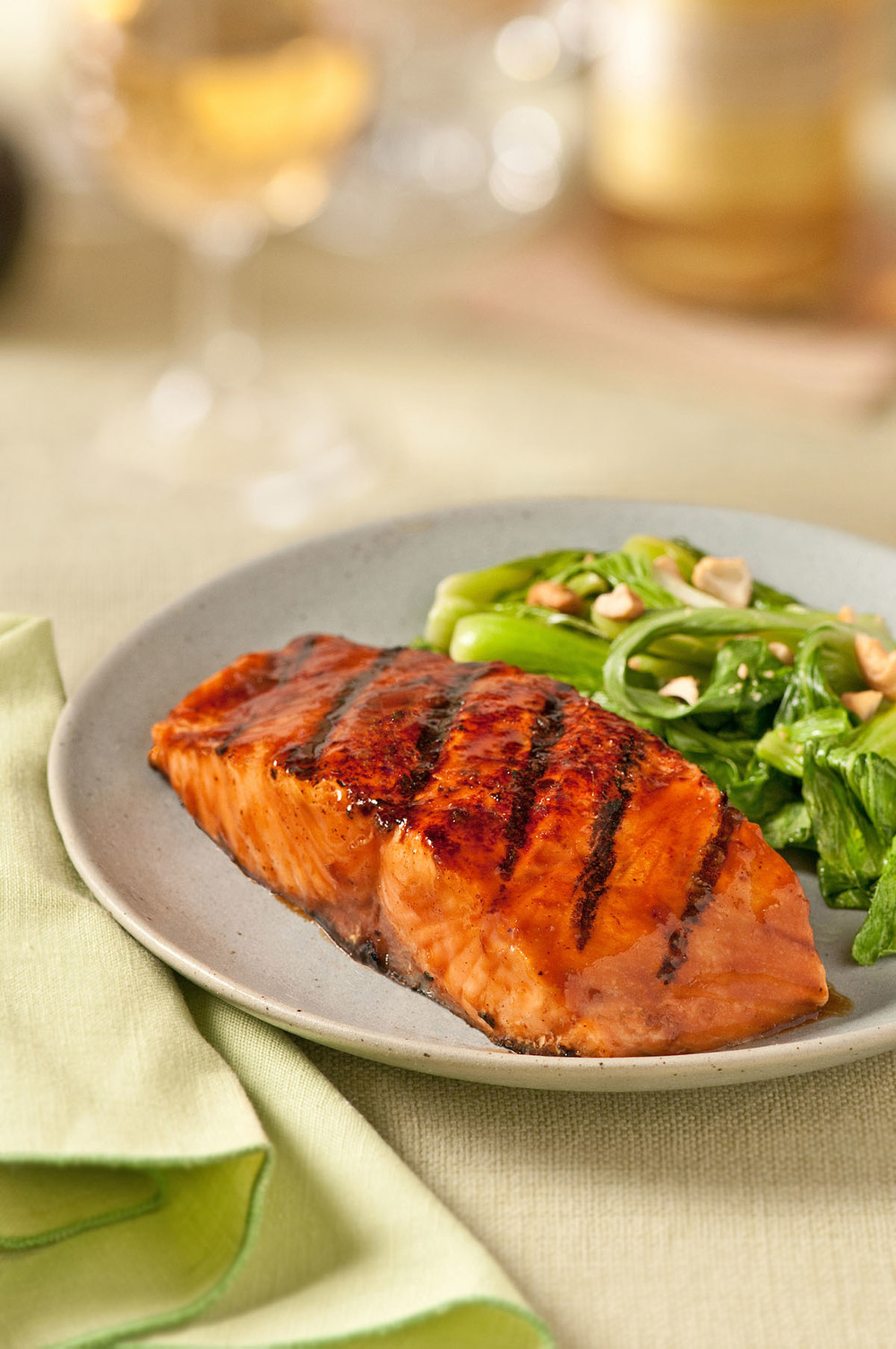 Grilled Salmon with Ginger Glaze
