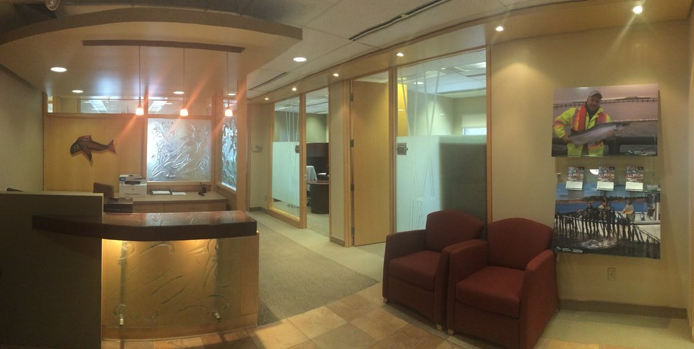 Foyer of new CAIA office at 220 Laurier Avenue West, Suite 1650