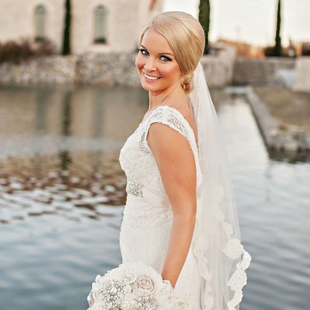 Bride With Hair And Makeup At Wedding In Dallas Fort Worth North Texas