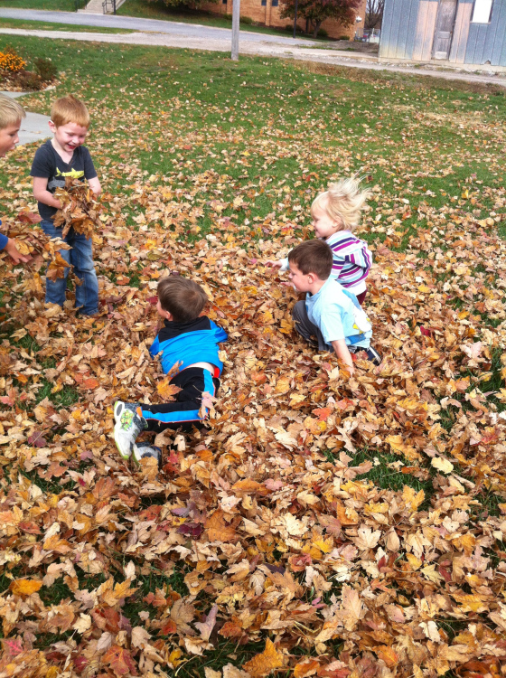 Fun in the leaves!!