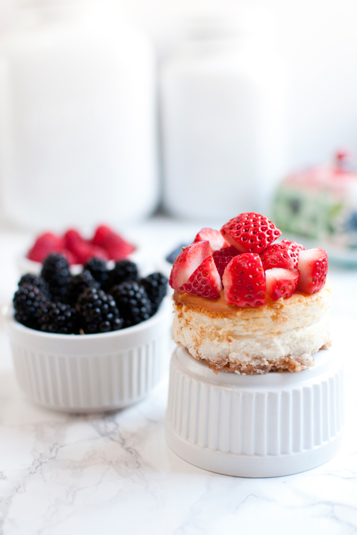 INDIVIDUAL MINI FRUIT CHEESECAKES