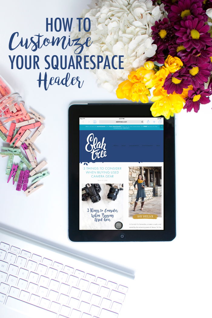 How to Customize Your Squarespace Header