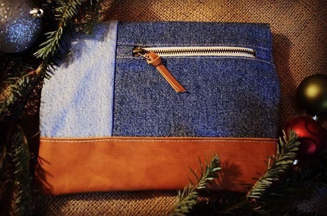 Little denim clutch, aren't you all festive?