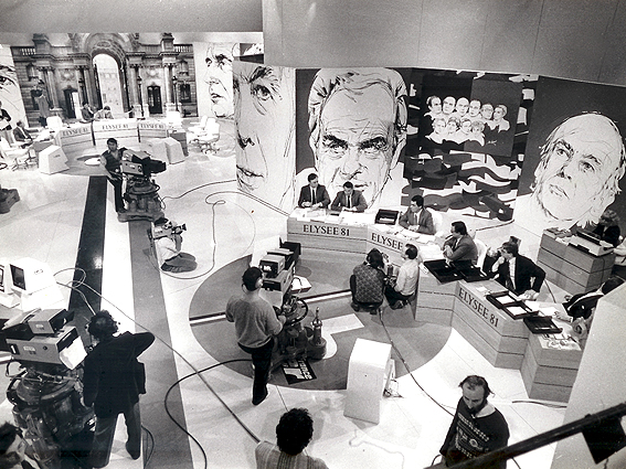 """Décor télévision """"Présidentielles 81"""""""