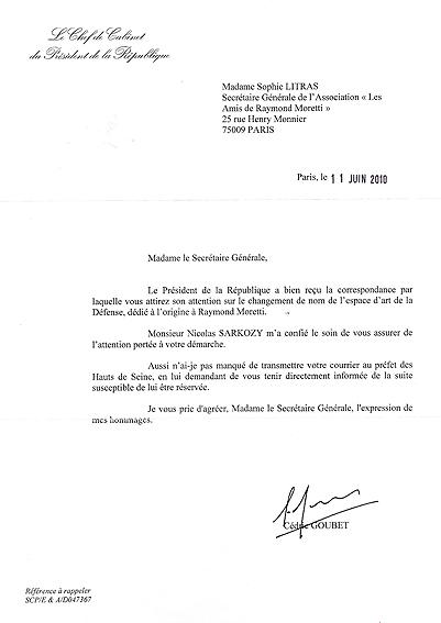 Réponse du directeur de cabinet du Président de la République