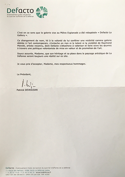 Courrier Patrick Devedjian (suite)