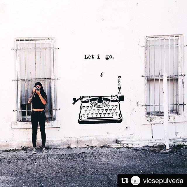 #letitgo Mural @wrdsmth Repost Image @vicsepulveda  CANVAS Outdoor Museum Show | November 11-20, 2016  #artist #interactive #connection  #canvaswpb #publicart #outdoorart #streetart #mural #contemporaryart
