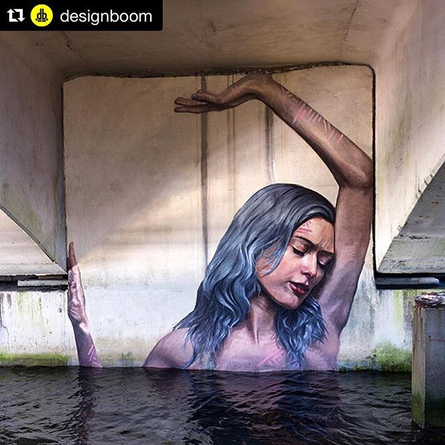 Mahalo @the_hula @designboom #repost ・・・ in undisclosed locales, beneath hidden underpasses and on abandoned maritime structures, hawaiian-born artist hula leaves monumental traces of his painterly hand. @the_hula ventures on his paddle board in search of spaces and locations that lend themselves to the emotional and physical states of his highly expressive subjects.  see more #art on #designboom #canvaswpb #contemporaryart #mural #outdoorart #publicart