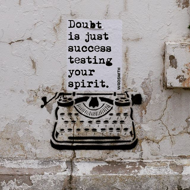 Doubt is just success testing your spirit - @wrdsmth 📷 @instagrafite 📢 LOCAL ARTISTS - Don't Miss Out - Deadline July 30  We are accepting proposals from local artists interested in creating a mural for the CANVAS Local Showdown taking place in the Northwood Village in West Palm Beach, Florida. Sponsored by West Palm Beach Art in Public Places (AiPP) and the Community Redevelopment Agency (CRA). Local artists from diverse backgrounds and experiences are encouraged to apply.  For more information:  canvaswpb.org/local-showdown  We look forward to your creative submissions!  #canvaswpb #publicart #outdoorart #streetart #mural #contemporaryart