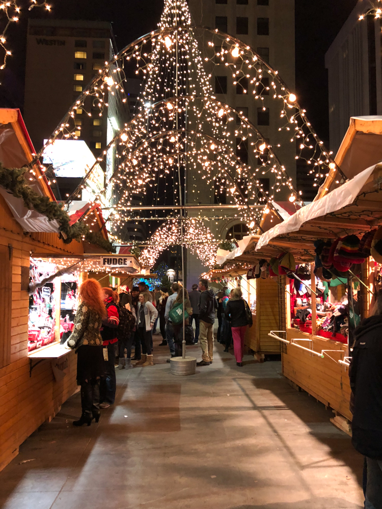 A German Market Downtown Denver, who knew! What a great way to spend a December night!
