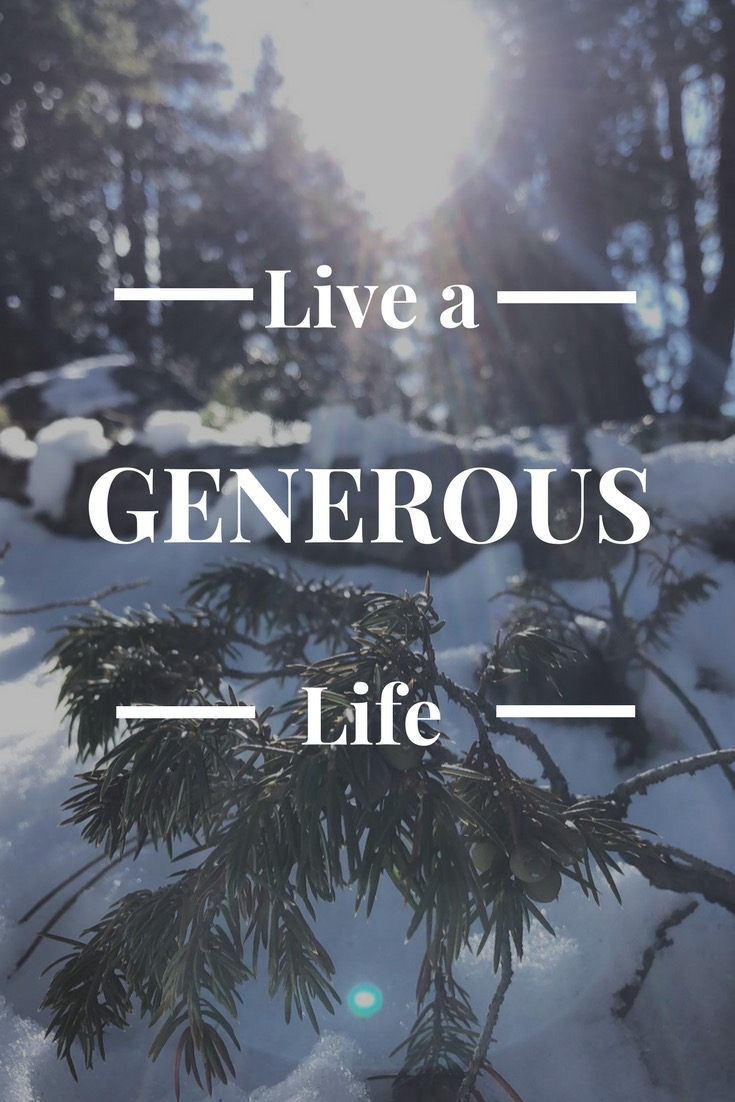 Life a life of Generosity - AVintageJoy