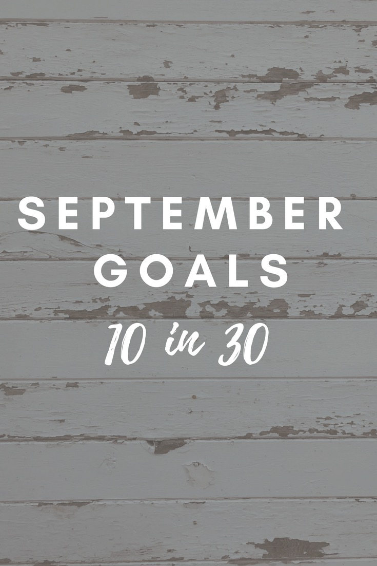 September Goals - AVintageJoy