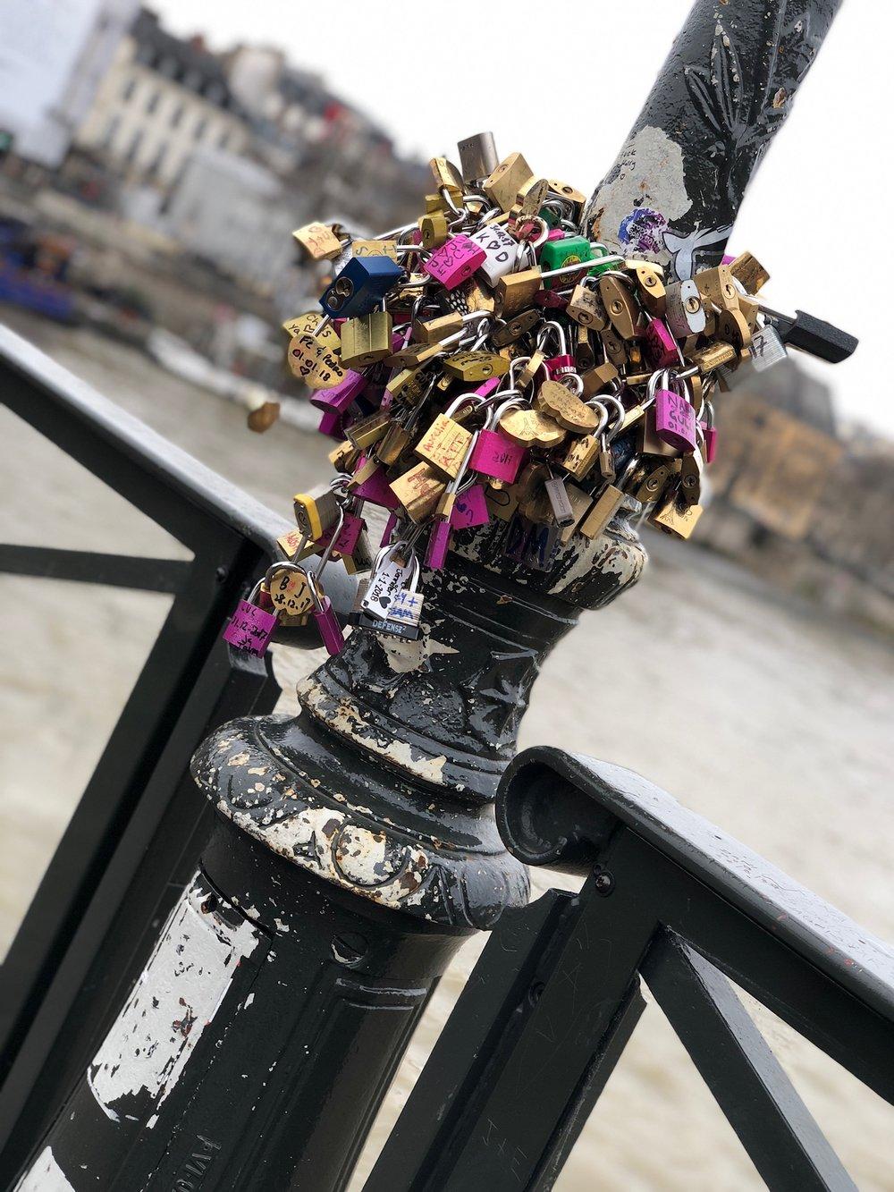 Remnants of the Lock Bridge in Paris