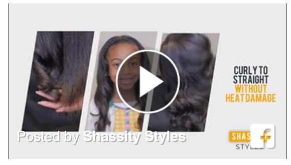 New DIY Video! - How often do you straighten your curls? This video shows how to style curly to straight without heat damage!