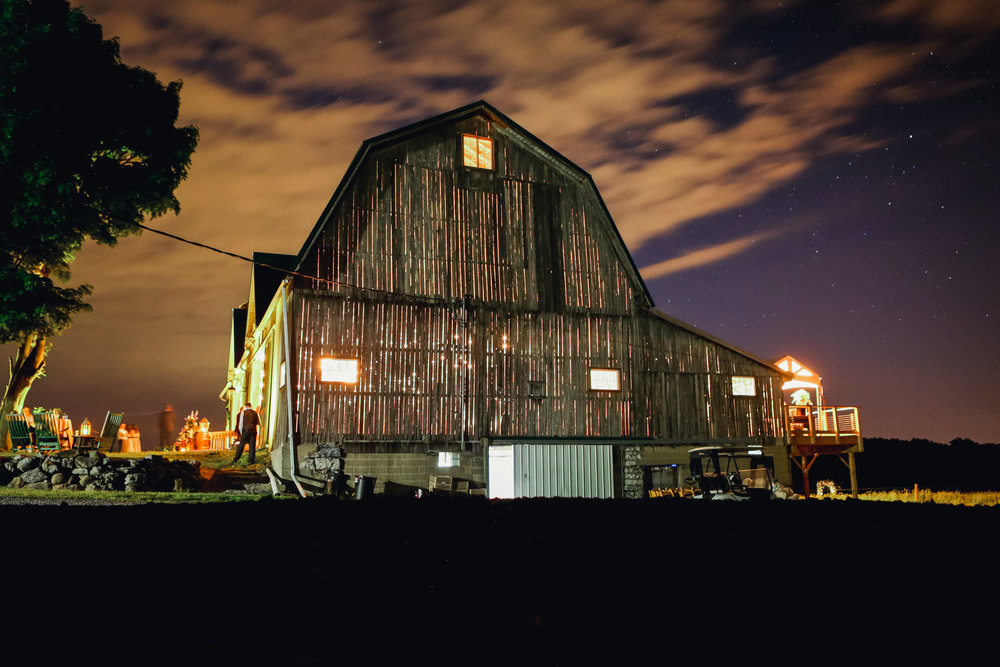 A long exposure of the gorgeous barn at Muranda Cheese in the Finger Lakes.