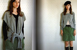 Japanese craft book - two versions of reconstructed sweater