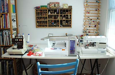 studio - sewing table