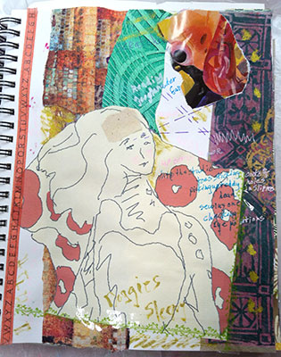 Collage page with journaling