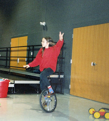 Performing on Unicycle