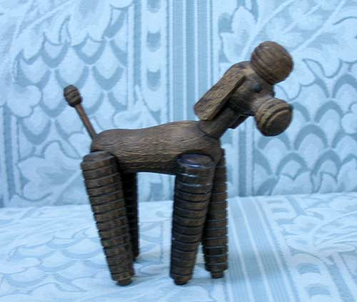 jointed wooden poodle