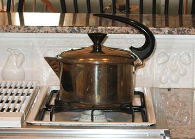 teapot water boiling