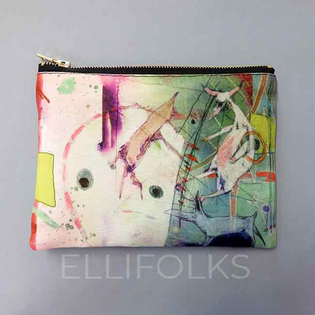 Circus Dreams - large zipper pouch
