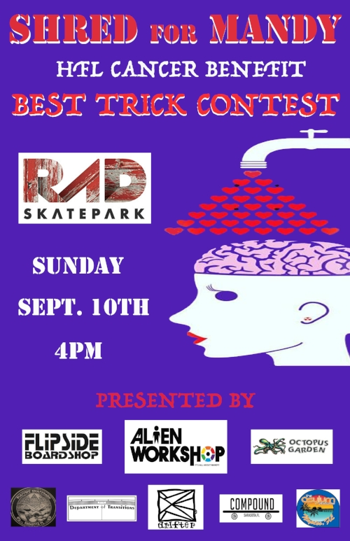 HFL Cancer Benefit Best Trick Contest Shred for Mandy RAD Skatepark Asheville, NC