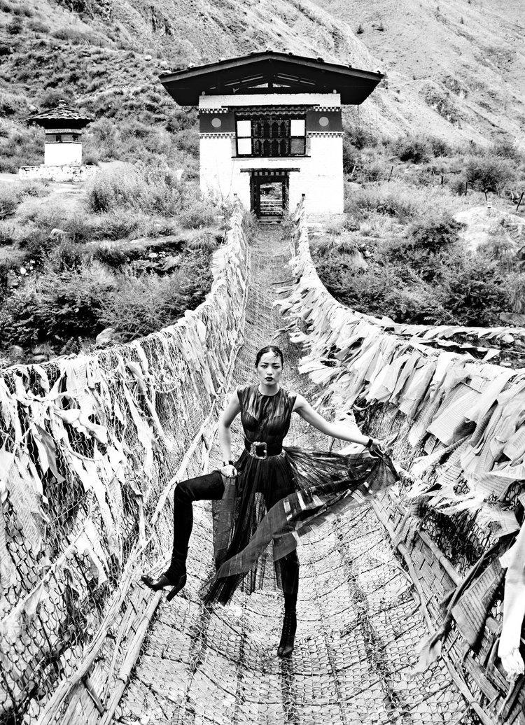 Tibetan Bridge Tachog Lhakhang Dzong, Bhutan.jpg