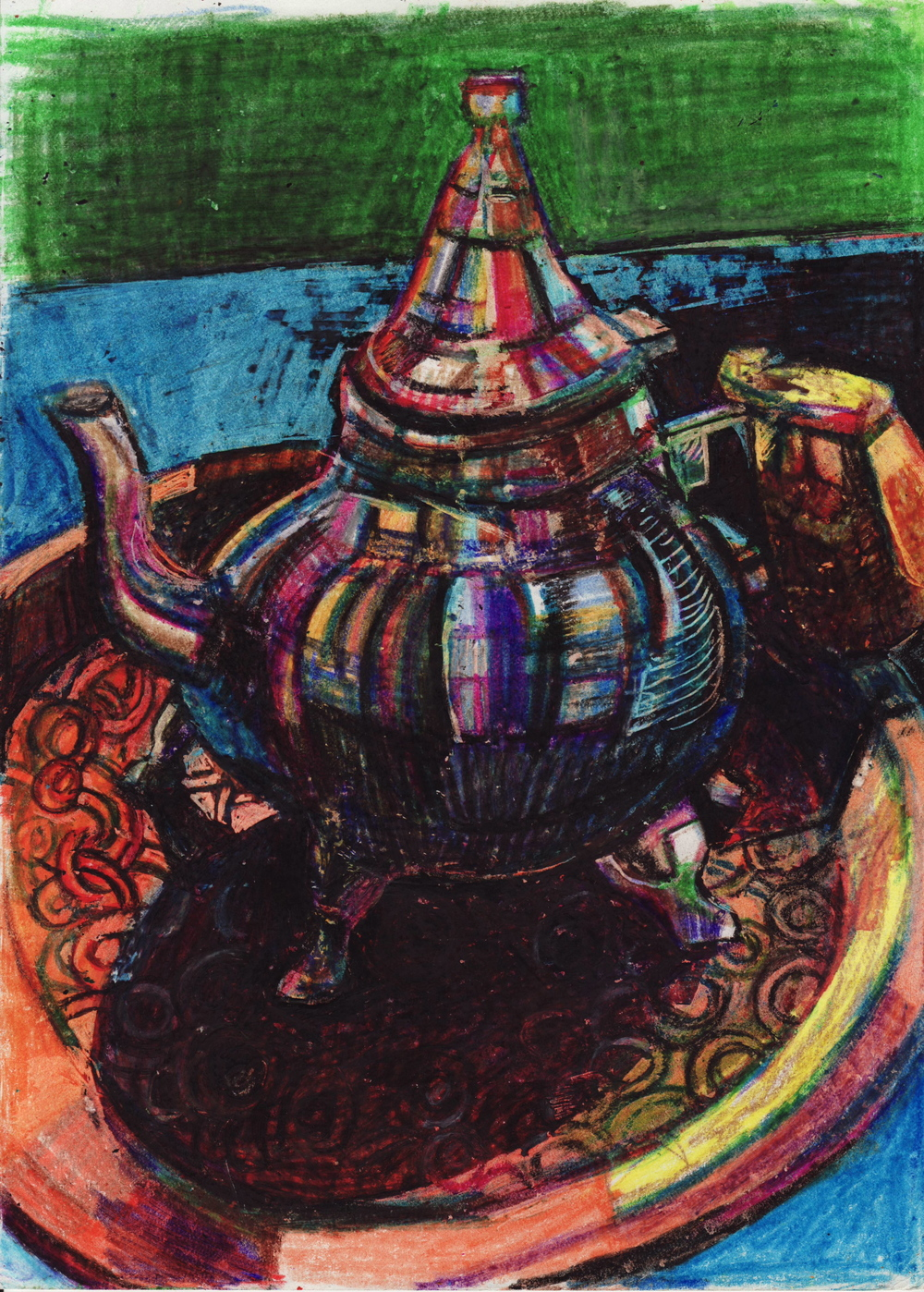 teapot in a morrocan resturant in .JPG