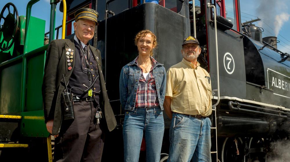 Le contrôleur, Barry Miller, Laura et notre invité Dan Schubart.  The conductor, Barry Miller, Laura, and our guest Dan Schubart.