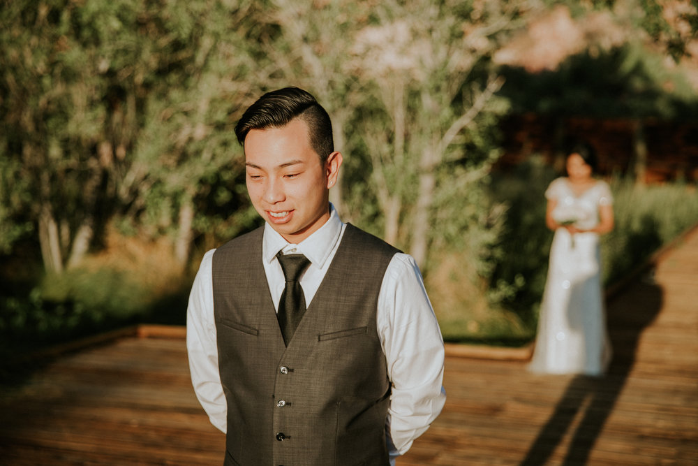 AJ + Kittichai - First Look - Wedding Day - Seattle Wedding Photographer - Washington Elopement Photographer - Seattle Engagement Photographer - Seattle Photographer