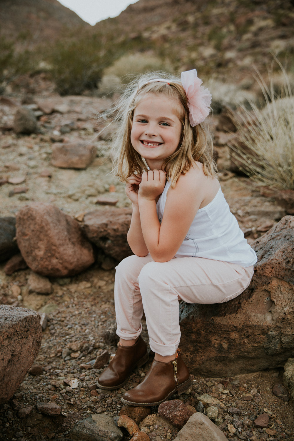 Lifestyle Family Photography - Las Vegas Photographer - Desert Landscape - Henderson, NV - Mother and Daughter