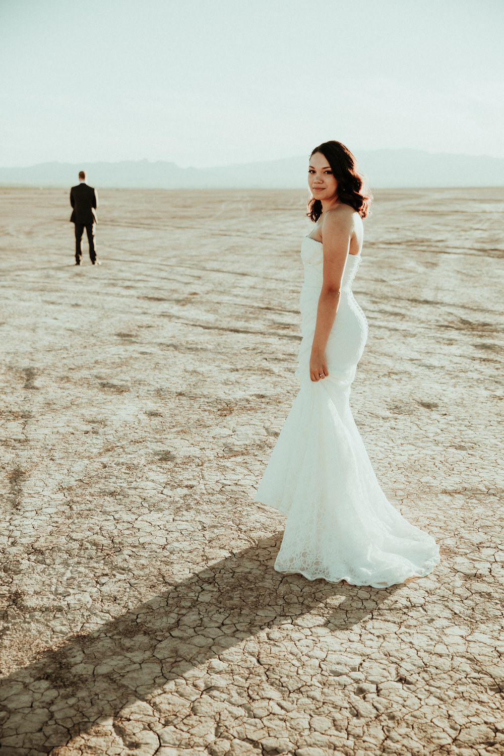Seattle Wedding Photography - Las Vegas Rustic Wedding - First Look - Dry Lake Bed - PNW Elopement Photographer - Portland Photographer - Seattle Engagement Photographer