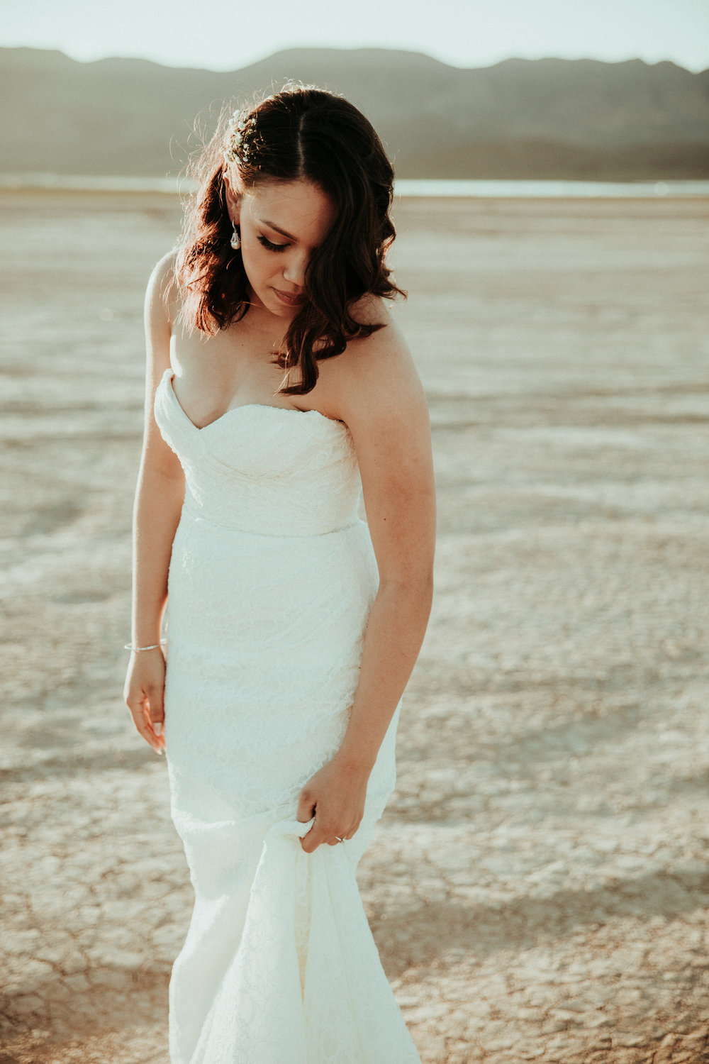 Seattle Wedding Photographer - Las Vegas Wedding Photography - First Look Session - Bridal Portrait - Henderson, NV - Lace Wedding Dress - PNW Wedding Photographer