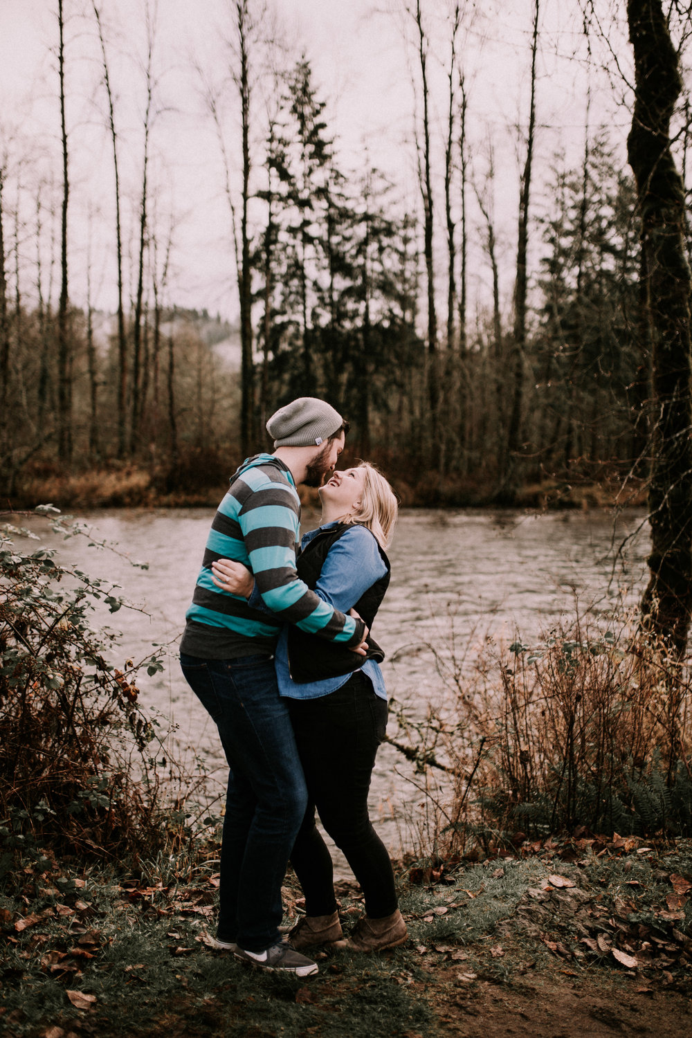 Seattle Engagement Photographer - Engaged - Seattle Wedding Photographer - Seattle Couple's Session - PNW Wedding Photographer - PNW Elopement Photographer - Las Vegas Wedding Photographer - California Wedding Photographer - Fog - Flaming Geyser State Park - Moody Photographer - Couple's Session - Anniversary Session - Auburn, WA - Washington Couple's Photographer - Portland Wedding Photographer - Portland Elopement Photographer - Madi + Dano - Kamra Fuller Photography  - 108