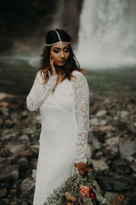 Kamra Fuller Photography - Seattle Wedding Photographer - Seattle Elopement Photographer - Port Angeles Wedding Photographer - Boho - Bohemian - Waterfall Elopement - PNW Wedding Photographer