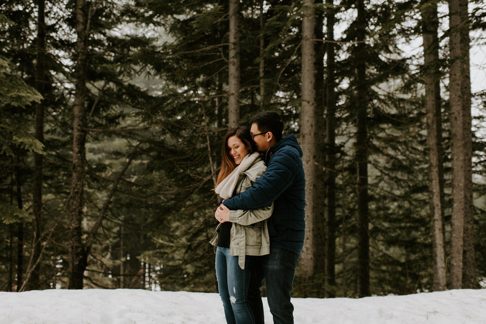 Kim + Regan - Mt. Rainier Engagement Session