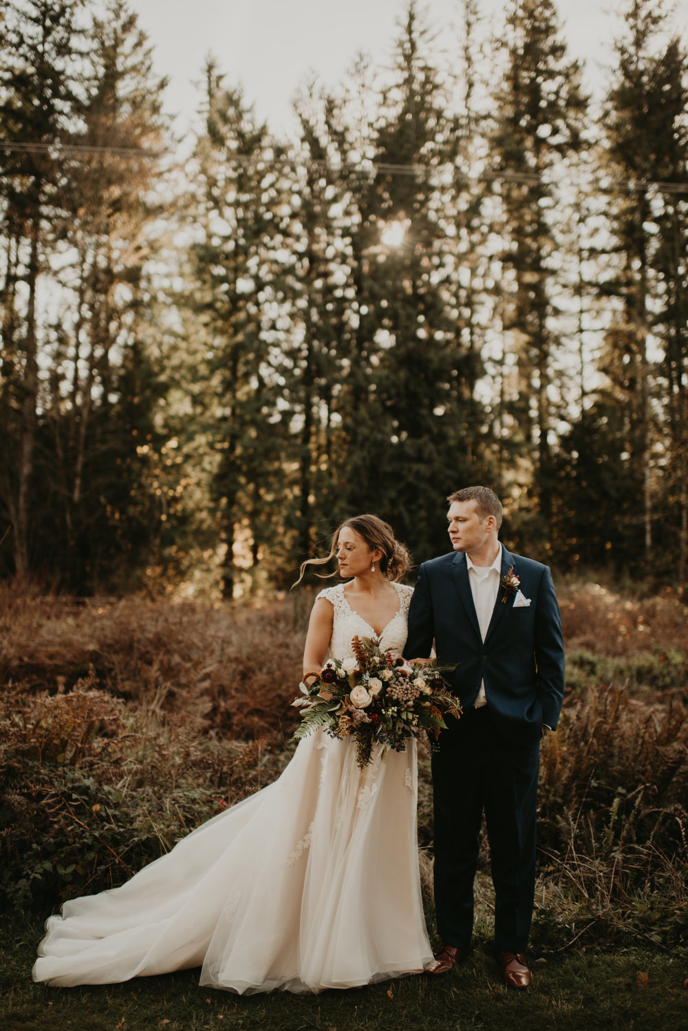 """KAMRA WAS NOTHING SHORT OF AMAZING""  My husband and I had a small, intimate wedding/elopement (with 15 of our closest family members) in Monroe, Washington November 2018. We are originally from and live in Anchorage, Alaska but selected Washington as we have family close by, and knew it would be slightly warmer that time of year. I found Kamra through Google search and was immediately captivated by how breathtaking her photos were. Picking out a photographer in another state isn't always easy, but Kamra was a saint from the very beginning. She helped us tremendously, in not only picking a location to have the wedding (and a separate location to take portraits of us two) but giving us her vendor recommendations for everything else we needed for that day (flowers, cake, etc.) Closer to the wedding day, we talked to her on the phone and nailed down a wedding day timeline. We were also given an awesome questionnaire for us to identify any specific photos we wanted to make sure we captured on that day. When our wedding day finally arrived, truly from the early morning all the way into the evening, Kamra was nothing short of amazing. She kept us moving along in a timely manner, (we were even ahead of schedule!) and even as only ONE person, she was always right there to capture every special moment. Kamra, my husband and I drove to a separate location to take individual photos. My husband can be pretty awkward when it comes to photos, but I am still shocked at her ability to direct us in a way that was fun, laid back and just comfortable. When we got our photos back from that day, I (as well as my entire family) were truly speechless. I knew that we would have some amazing photos, but I was not prepared for every.single.photo. to be as gorgeous as they were. I wanted to be able to look back at our wedding photos, and be able feel the emotion and mood from that day, and these photos do exactly that. Not only do we have many many beautiful posed photos but, so many wonderful candids of us, our family, and every little detail of our special day. I don't have to worry about ever forgetting any moment of that day, as it is all truly reflected in our photos. I could not be any more grateful to Kamra, as she truly is a kind soul with an incredible talent, and because of her we will always remember how truly beautiful this day was.  - Madison + Keegan, 2018, Monroe, WA"