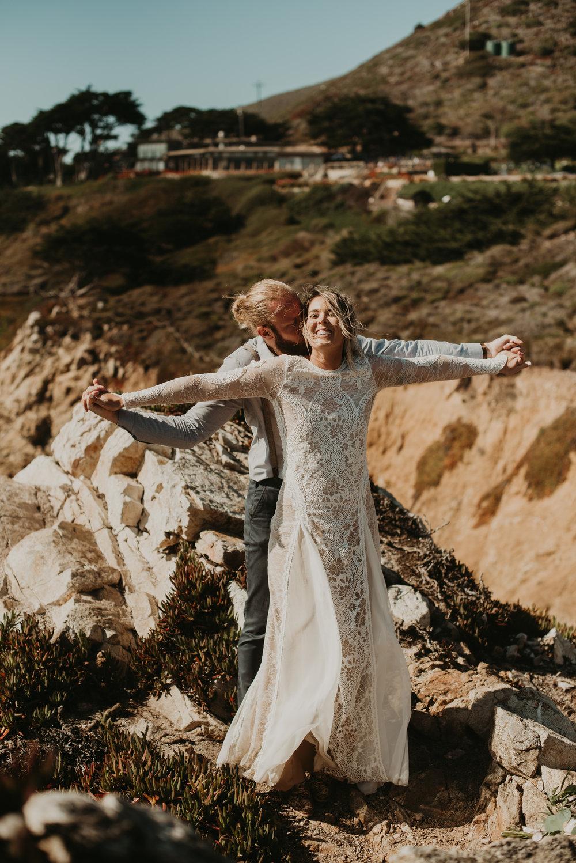 Joanna + Brian West Coast Intimate Adventure Wedding in Big Sur, CA by Seattle Wedding Photographer Kamra Fuller Photography