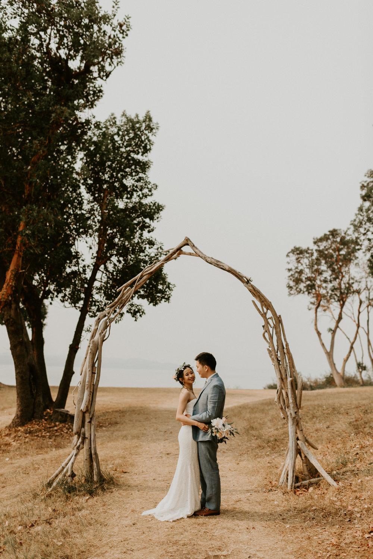 Janita + Jonathan's Intimate Wedding at Vashon Island, WA by Seattle Wedding Photographer Kamra Fuller Photography