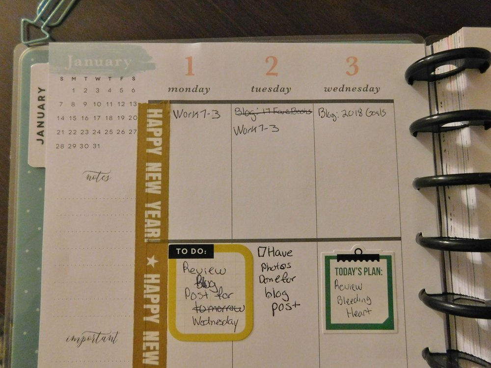 Apparently, I need to use pencil when I use my planner because I'm always crossing things out and rewriting it!