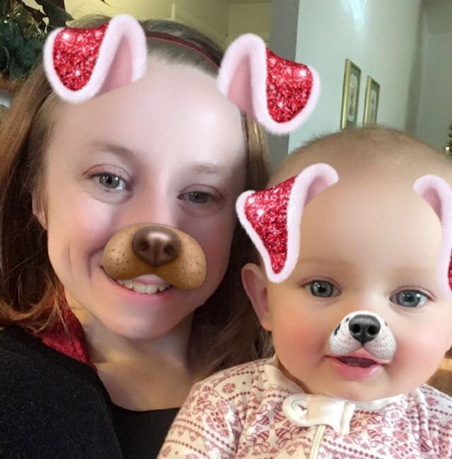 My last selfie of 2018. My niece is always entertained by the filters.