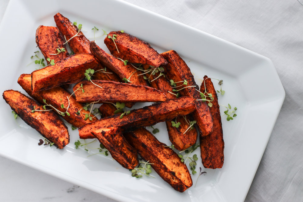 Smoky Roasted Sweet Potato Wedges