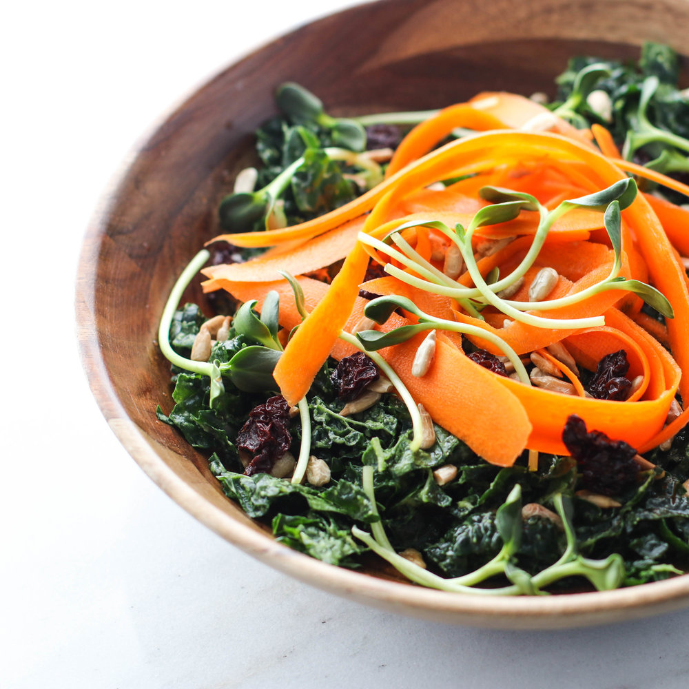 Kale and Avocado Salad with Sunflower Seeds, Carrot, and Raisins.jpg