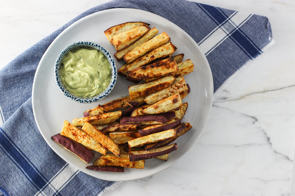 Sweet Potato Fries with Lemony Avocado Tahini Dip.jpg